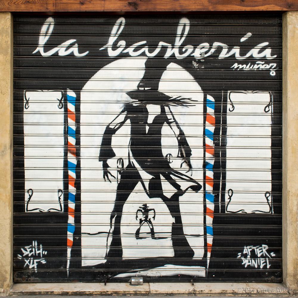 La Barberia Street Art In Valencia Spain Oliver Flickr