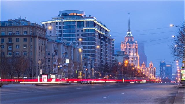 Russia. Moscow. New Arbat Avenue and Hotel Radisson