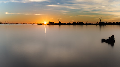 Sunrise at Lake Mulwala | by James A Collins