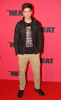 Lincoln Younes - The Heat red carpet movie premiere in ...