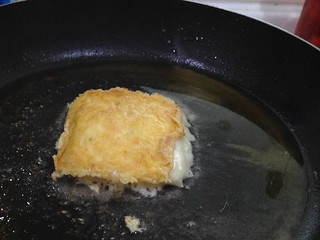 Chris makes fried cheese - YUM! | by brookscl