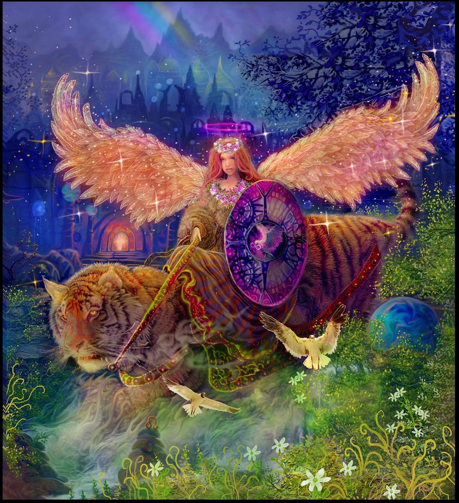 Fantasy Tiger Art With Wings