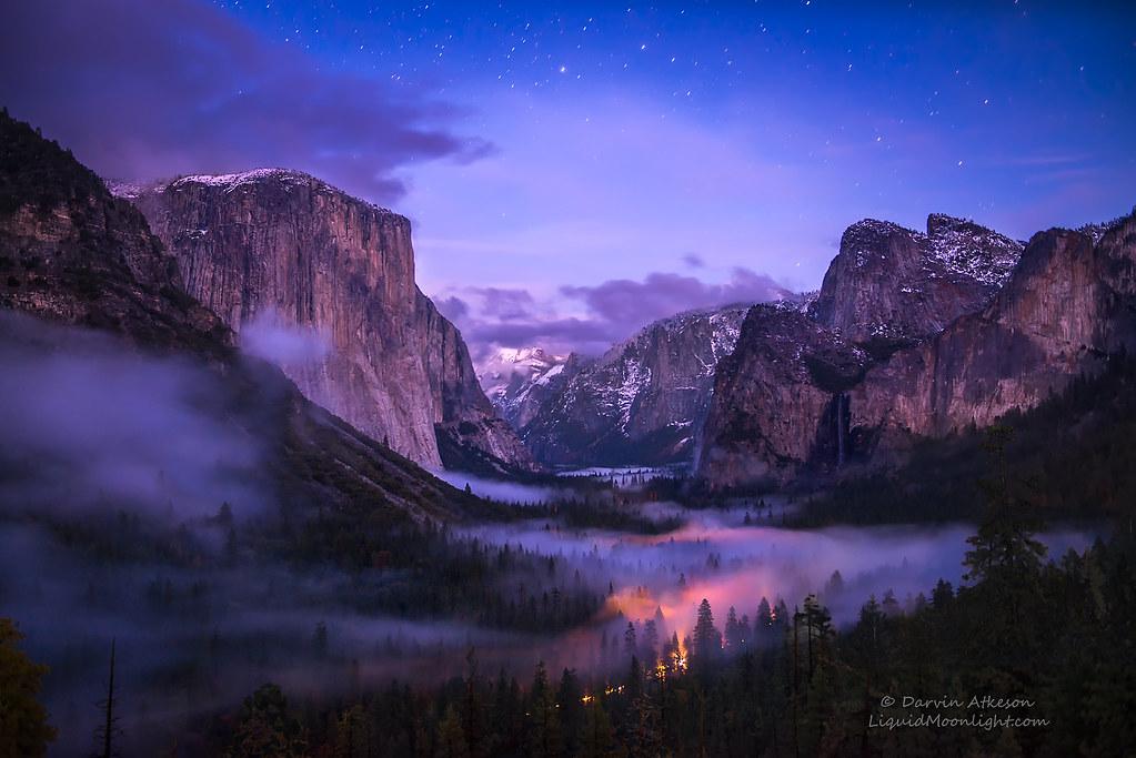 Yosemite Valley - Twilight Fog