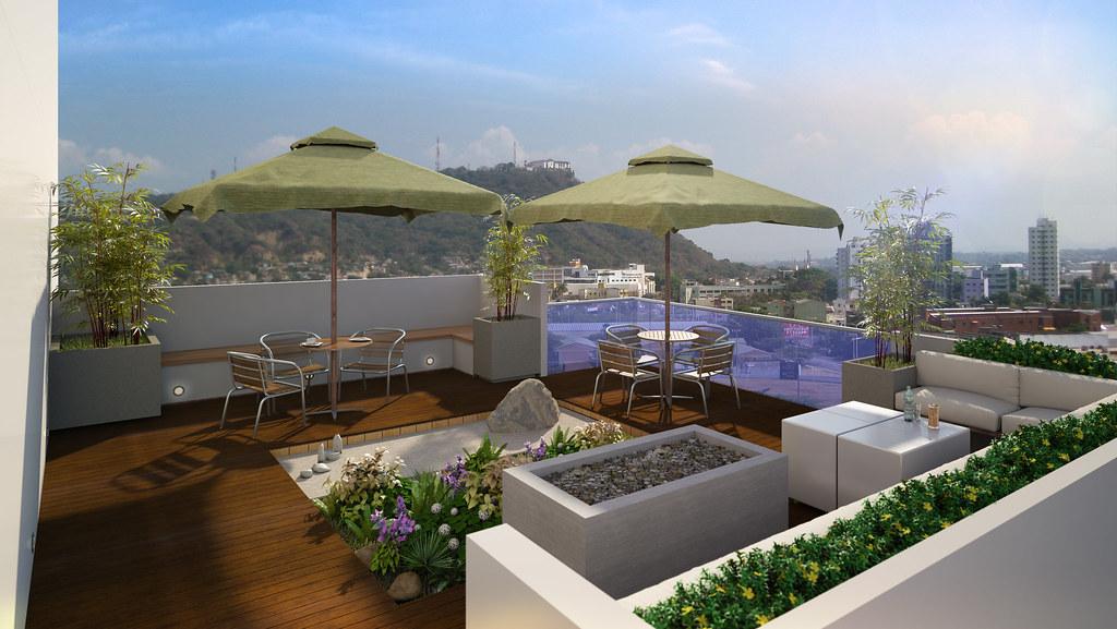 Terraza Edificio Pie De La Popa Cartagena Diseño Modelo