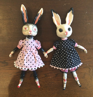 ceramic bunny dolls | by jamfancy