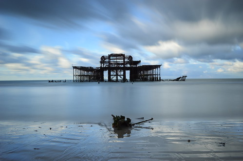 longexposure sea sky beach sunrise sand nikon brighton stones hove westpier lee d3200 bigstopper jamiepryer