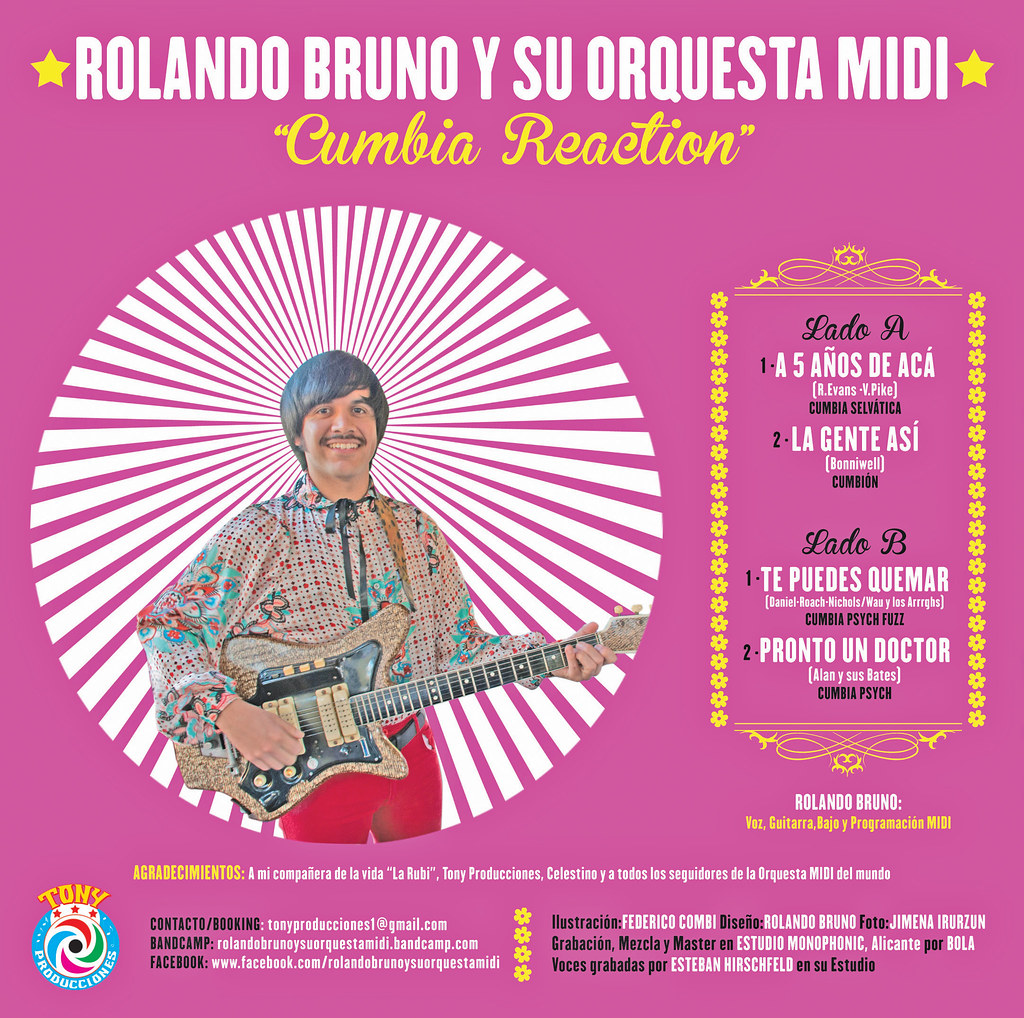 Rolando Bruno y su Orquesta MIDI - Cumbia Reaction EP 2013