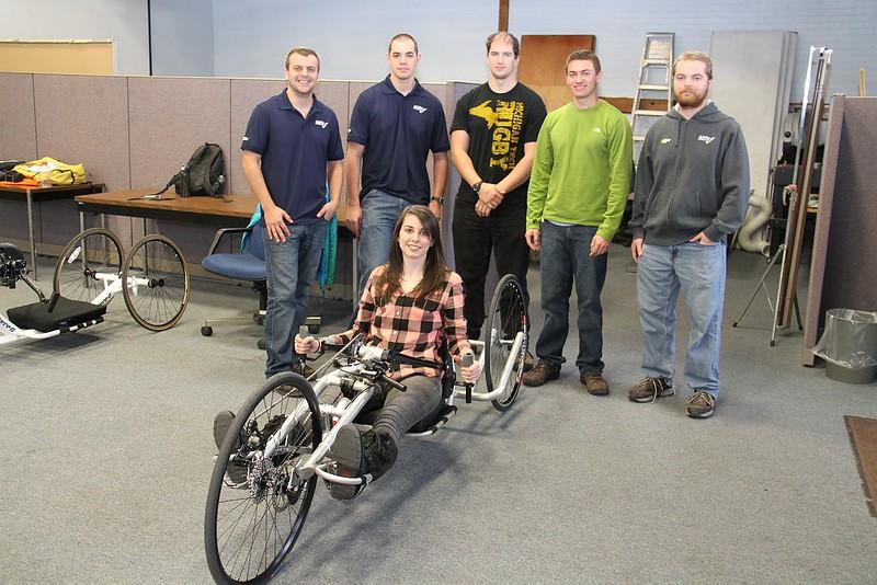 Hand Crank Cycle Team at World Usability Day (WUD) Michigan Tech