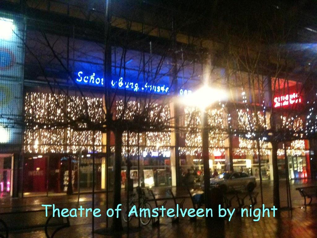 Theatre Of Amstelveen By Night Vriendelijke Groeten Frans Flickr