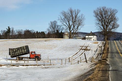 truck landscape vermont farm silo east monkton