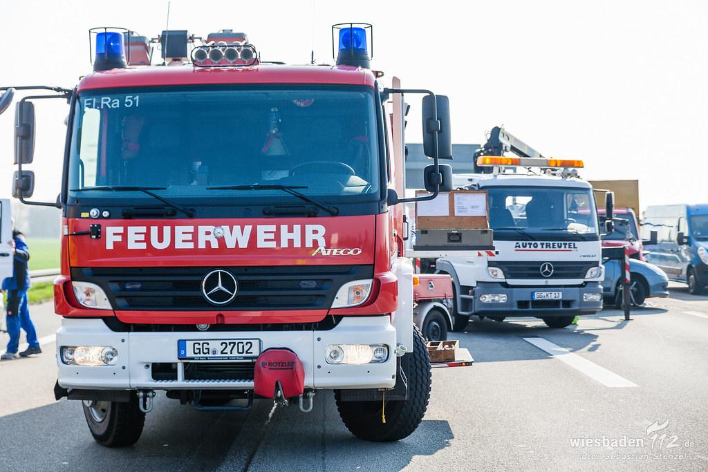 Unfall Wiesbadener Kreuz