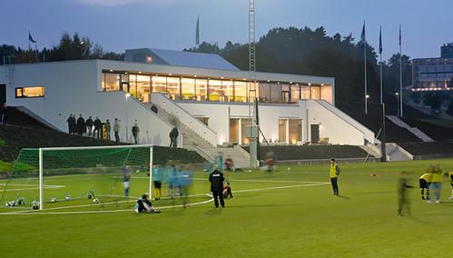 Sankt Jörgen Park Resort - Renovering, slitsdränering & sprutsådd - Mars 2014