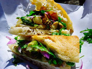 Pennypacker's Brussels Sprouts sandwich with sharp Provolone and arugula | by Hybernaut