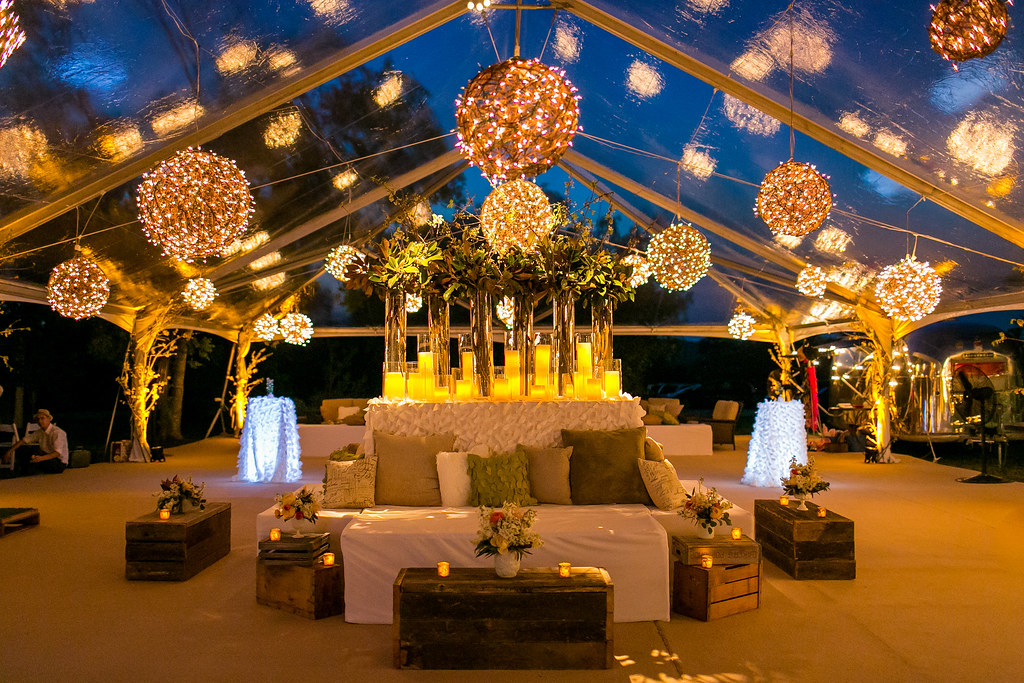 Tent lighting services by intelligent lighting design