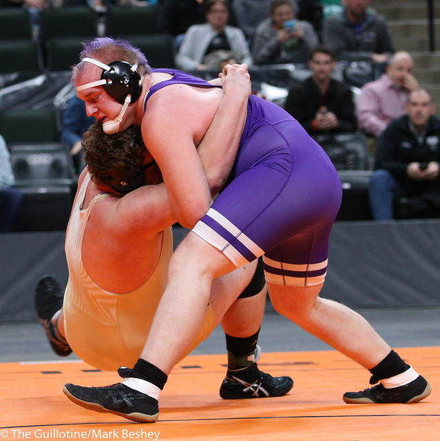 285A - 1st Place Match - Trent Esping (Minneota) 38-4 won in sudden victory - 1 over Bradey Berg (Barnesville) 31-4 (SV-1 3-1)