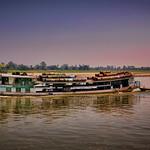 A workboat on the Ayeyarwady River between Mandalay and Bagan