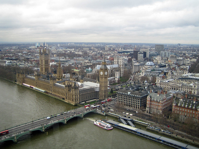 Westminster seen from the London Eye - London, England