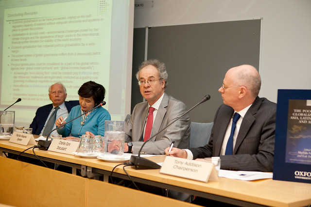 Book Launch The Poor Under Globalization in Asia, Latin America, and Africa, Oxford University Press