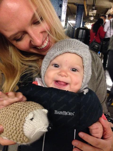 Happy Baby with Hedgehog