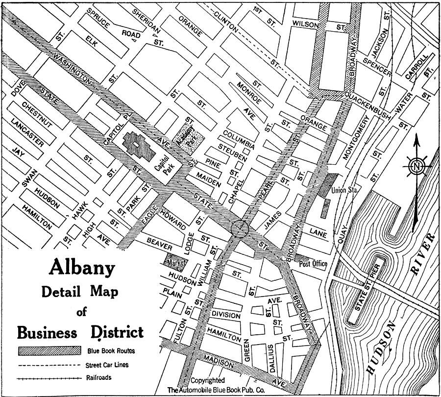 map downtown albany NY 1940s | AlbanyGroup Archive | Flickr