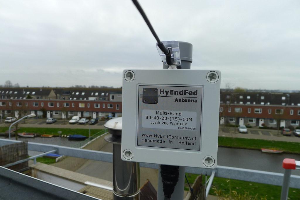HyEndFed 5-band HF antenna | Close-up of the 49:1 transforme