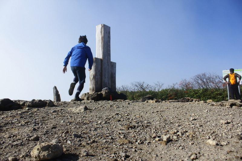 栗駒山の山頂で