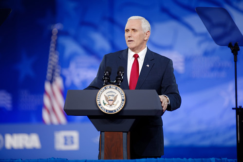 Vice President Mike Pence at CPAC 2017   by Michael Vadon