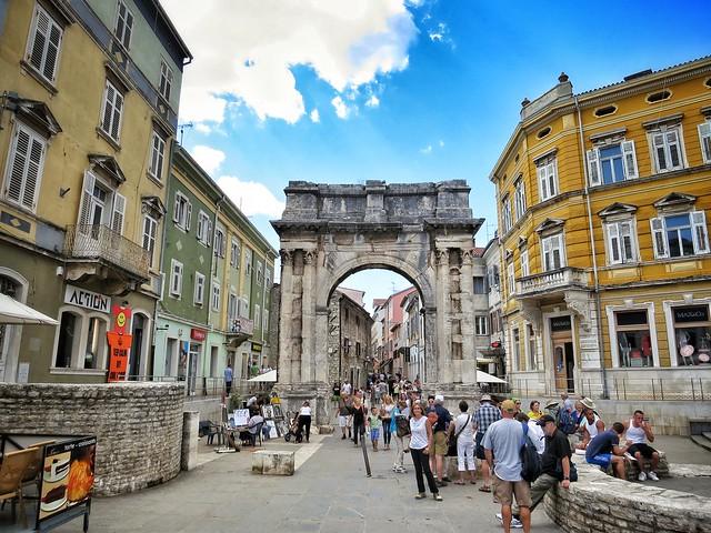 Triumphal Gate of the Sergi at Pula, Croatia