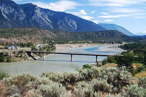 Bridge of 23 Camels over the Fraser River, Lillooet, Gold Country, Cariboo, British Columbia