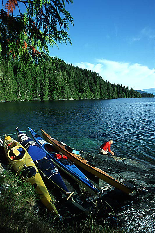 Sea Kayaking on Vancouver Island in British Columbia, Canada