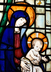 Blessed Virgin and child by Martin Travers, 1929