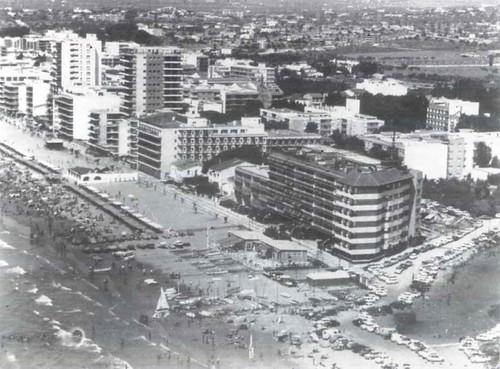 Vista aèria del Club Nàutic, any 1976.