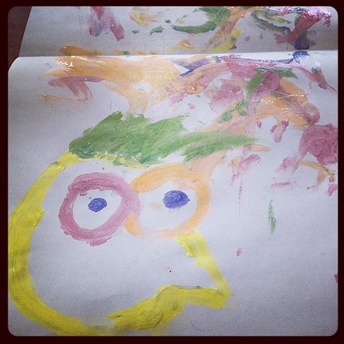 Andrew helped make a portrait of me and how he makes my head explode over and over.   by BenSpark