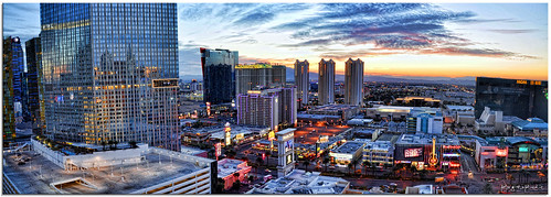 panorama color colour clouds sunrise buildings dawn lights nikon view lasvegas pano wide strip d90 fotografdude