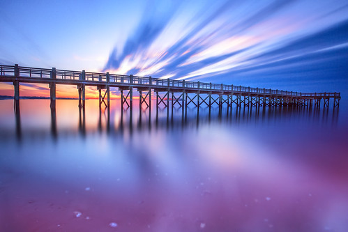 connecticut ct milford longexposure water pier sunrise clouds sun ocean longisland sound sea milfort canon wideangle