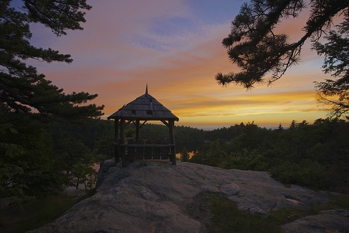 sunset usa lake ny water rock day cloudy gazebo rochester gunks summerhouse lakeminnewaska ulstercounty kerhonkson shawangunkridge minnewaskastateparkpreserve