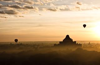 Sunrise over Bagan 1   by philborg