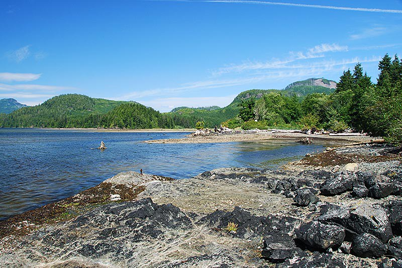 Sarita River, Numukamis Bay, Trevor Channel, Barkley Sound, Vancouver Island, British Columbia