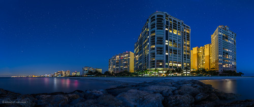 ocean sunset sea panorama reflection beach night stars hotel twilight rocks riviera unitedstates florida fl marcoisland hanusiak