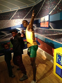 Usain Bolt figure at Madame Tussauds London