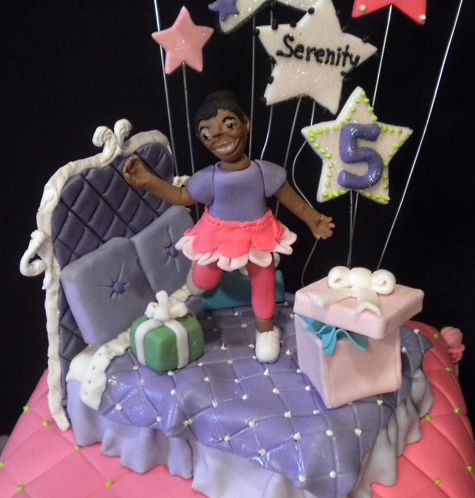 Cool Girly Girls Birthday Cake Topper Little Dancer Jumping On Flickr Personalised Birthday Cards Xaembasilily Jamesorg