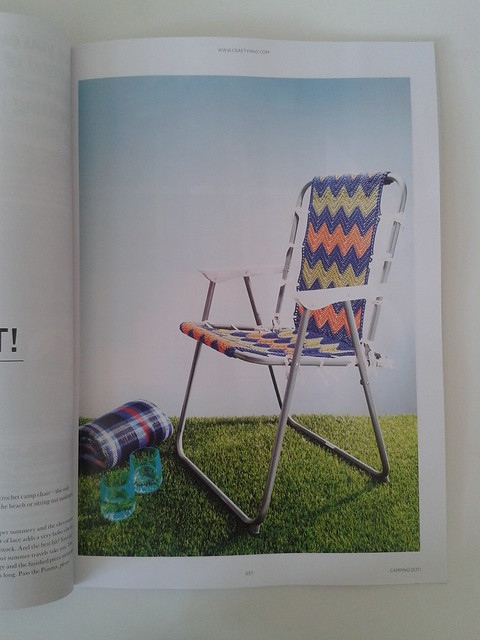 crochet picnic chair