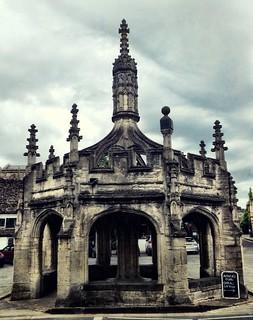 Malmesbury market square   by William Parsons Pilgrim