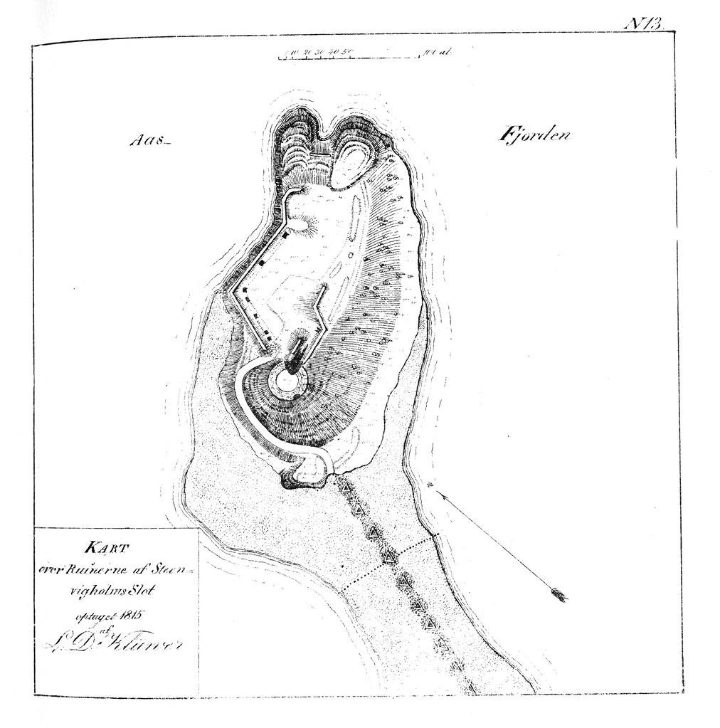 Kart Over Steinvikholm Slott 1815 Format Dokument Dato Flickr