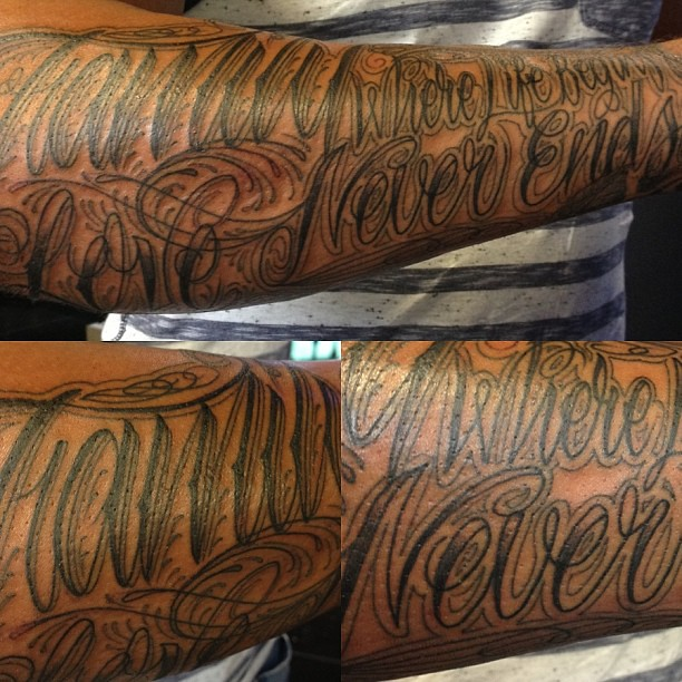 Love life ends and never begins where tattoo 45 Heart