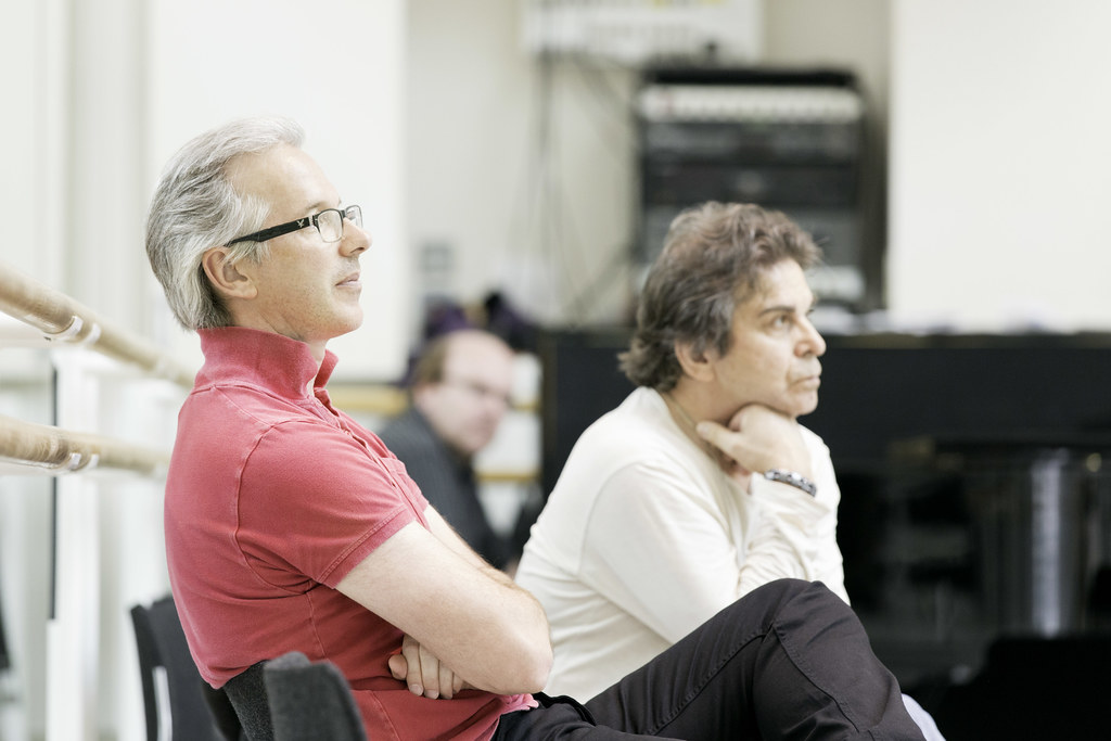 Christopher Saunders and Alexander Agadzhanov in rehearsals for Don Quixote © ROH / Johan Persson 2013
