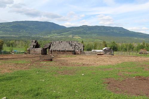 canada barn bc down falling