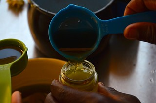 Making tea tree & lavender salves, June 2015   by guba.swaziland