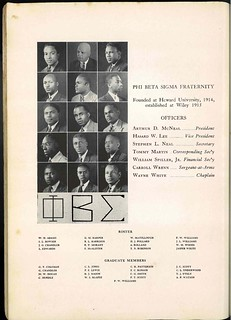 Beta chapter at Wiley College (1939) | by bluephi.net