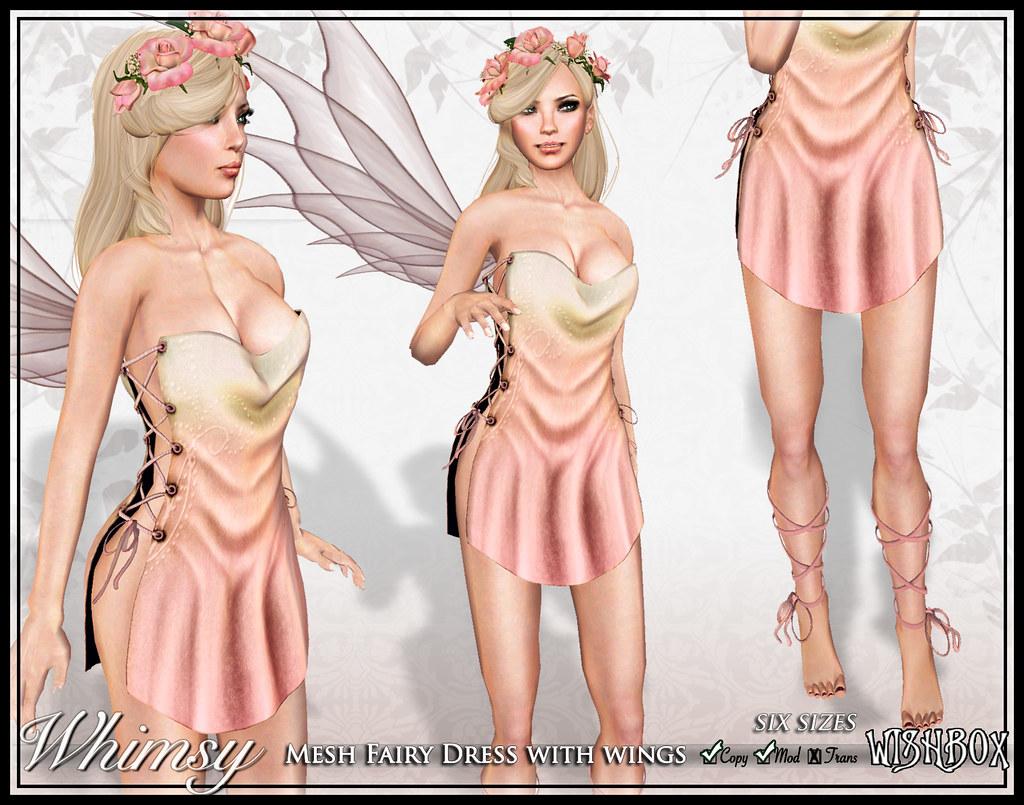 Whimsy Mesh Fairy (Sunset)